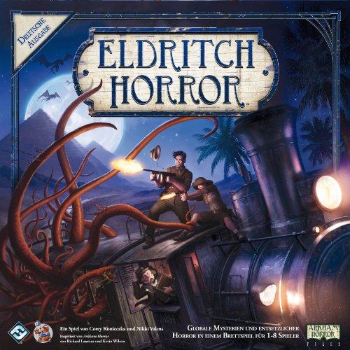 Asmodee Eldritch Horror, Grundspiel, Expertenspiel, Strategiespiel, Deutsch