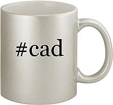 #cad - Ceramic Hashtag 11oz Silver Coffee Mug, Silver