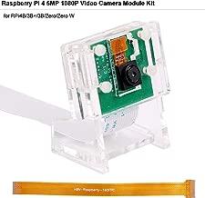 Raspberry Pi Camera for Raspberry Pi 4 Model B, 5MP 1080p 65 Degrees View Angle Mini Camera Module for RPi3B+/Zero/Zero W Camera with Case Flex Cable (Camera + Acrylic Holder)