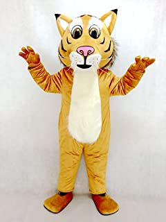 Fierce New Friendly Bobcat Mascot Costume