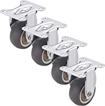 4 stks Heavy Duty Meubilair Casters Wielen, Castor Wheels, Swivel/Vaste wielen met remmen, Rubber Trolley Meubilair Caster...