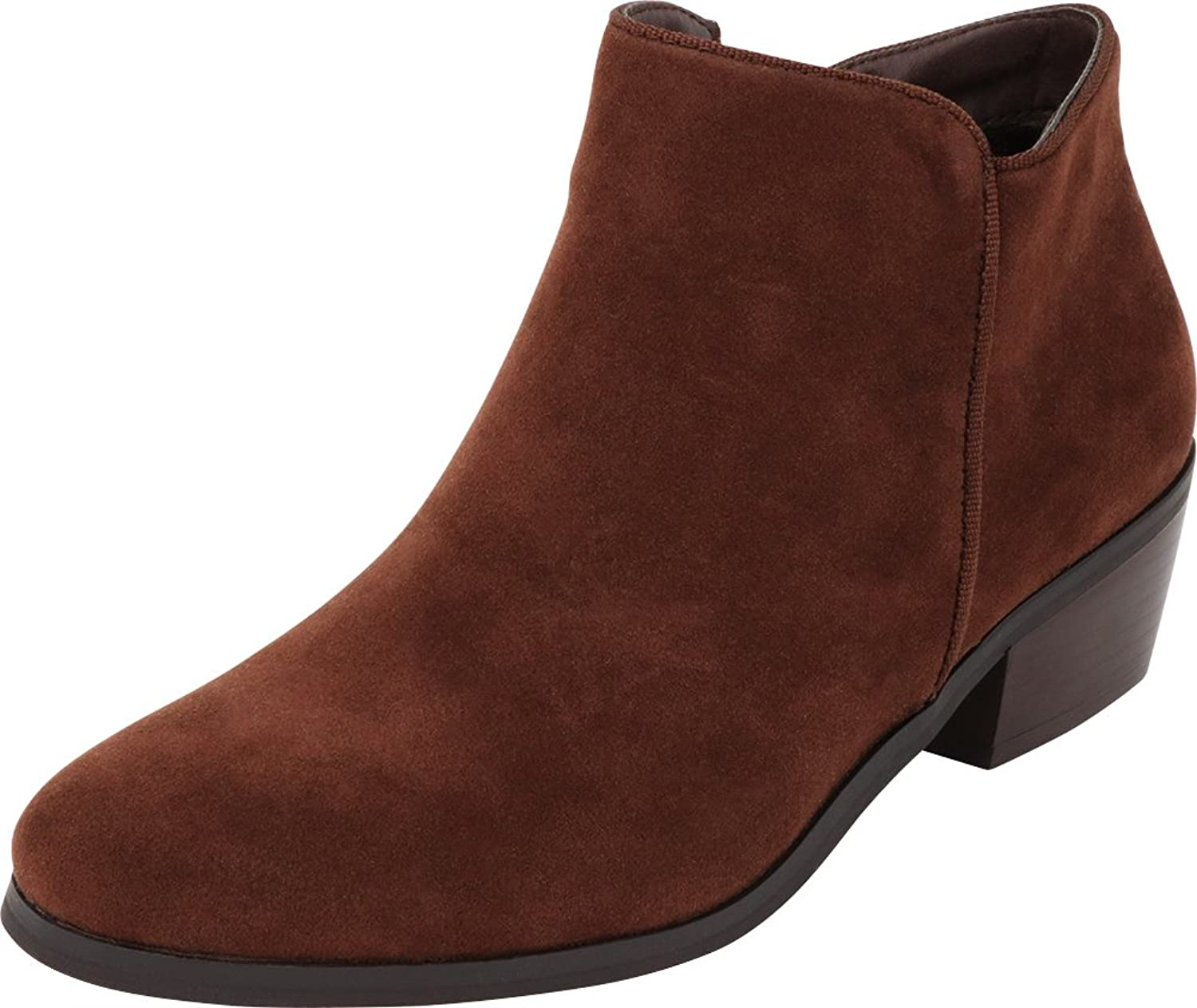 Cambridge Select Women's Western Cowboy Closed Toe Chunky Stacked Block Heel Ankle Bootie