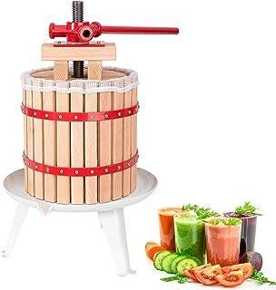 Hengda Pressoir à Fruits 12L Pressoir à Baies Fruit Presse-Fruits jus Presse mécanique Toile à pressoir Incluse la prépara...
