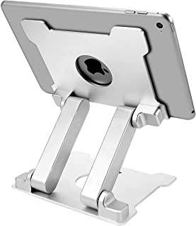 KABCON Quality Tablet Stand,Adjustable Foldable Eye-Level Aluminum Solid Up to 13.5-in Tablets Holder for Microsoft Surfac...