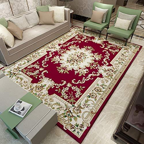 DUHUI Stuoia del Salotto del tavolino da Salotto del Grande Tappeto della Stanza da Salotto di Stile Europeo (120X170CM) (Color : L)