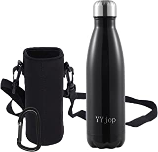Insulated Water Bottle,Double Layer Stainless Steel Leak Proof Sweat Free BPA Free Refillable Water Bottle Non-toxic Simpl...