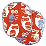 Knieflicken Buegelflicken Set retro XL Eule rot blau patches 12 x 10 cm Hosenflicken Aufbuegler Flicken zum aufbuegeln für Kinder Bügelbilder große Applikationen und Aufnäher