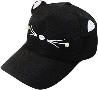 51bd1e461e6 AMA(TM) Cat Ears Cap Fashion Tide Pearl Women Baseball Caps Cute Mini Cat