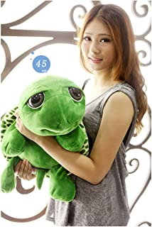 GeniusCells Plush Turtle Stuffed Animal Toys Big Eyes Sea Turtle Tummy Hugging Pillow Travel