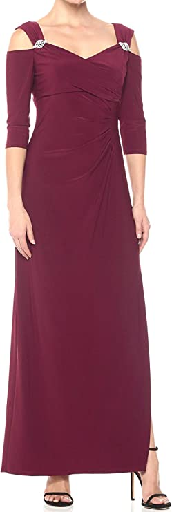 10+ Websites with 1940s Dresses for Sale R&M Richards Womens Plus Size Empire Waist Cold Shoulder with Sleeves Large  AT vintagedancer.com