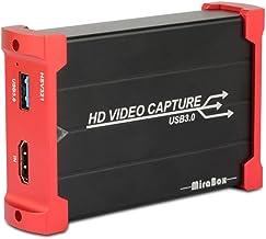 MiraBox Game Capture HDMI - USB 3.0 1080P 60FPS HD Dispositivo de transmisión para Playstation 4, Xbox One, Xbox 360 - Compatible con Windows Linux Mac