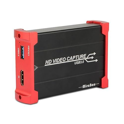 MiraBox Jeu USB 3.0 HDMI Carte de Capture 1080p 60 FPS Appareil Enregistreur vidéo Portable HD Live Streaming pour Mac Windows Linux Système Technologie supérieure Faible Latence