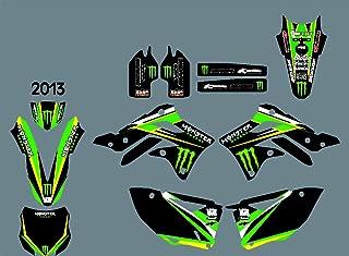 DST0367 Custom Kawasaki motorcycle Decal Kit Motorcross Graphics dirt bike Sticker for Kawasaki KXF450 2013 3M Adhesive Decals