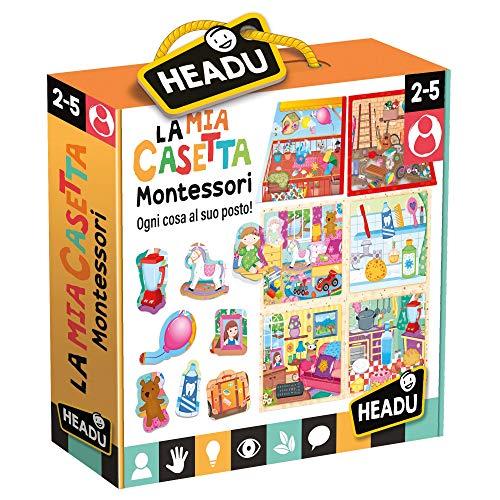 Headu-La Mia Casetta Montessori Gioco, Multicolore, IT20454