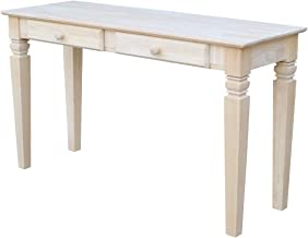 International Concepts OT-60S2 Java Sofa Table with 2 Drawers, Unfinished