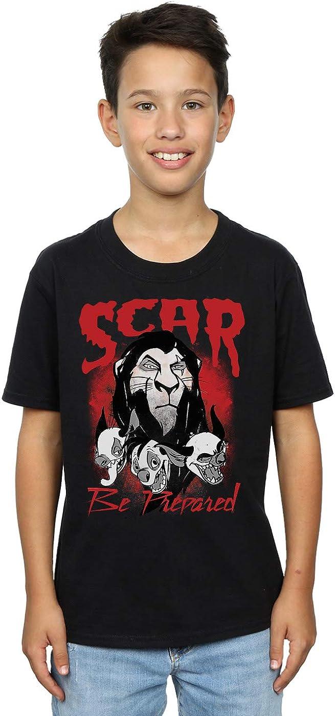 Disney Boys The Lion King Scar Be Prepared T-Shirt