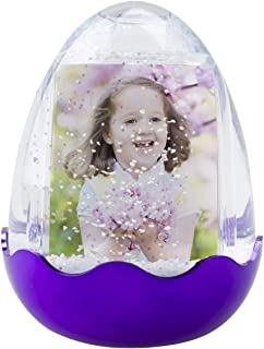 Easter Egg Photo Snow Globe (Purple)