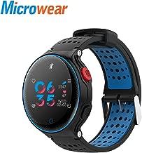 t0uvtrukCs Fashion Microwear X2 Plus Fitness Monitor Pedometer Sport Smart Bluetooth Watch Bracelet Blue