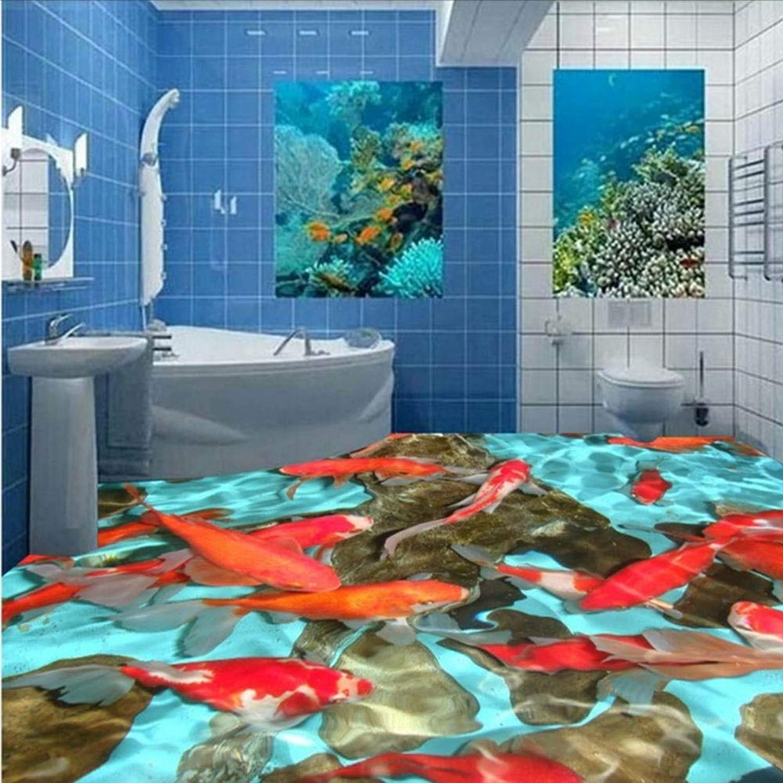 ahorrar en el despacho Lvabc Hawthorn Carpa Roja 3D Wallpaper Wallpaper Dormitorio Lobby Bao Bao Bao Piso Impermeable Mural-200X140Cm  liquidación hasta el 70%
