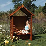 Rowlinson English Garden Wood Arbor with Seat