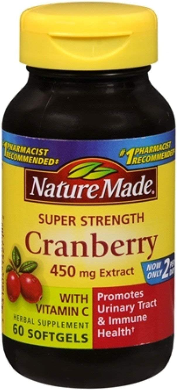 Nature Made Super Ranking TOP13 Strength Cranberry mg Cheap super special price Ex 450 Herbal Supplement