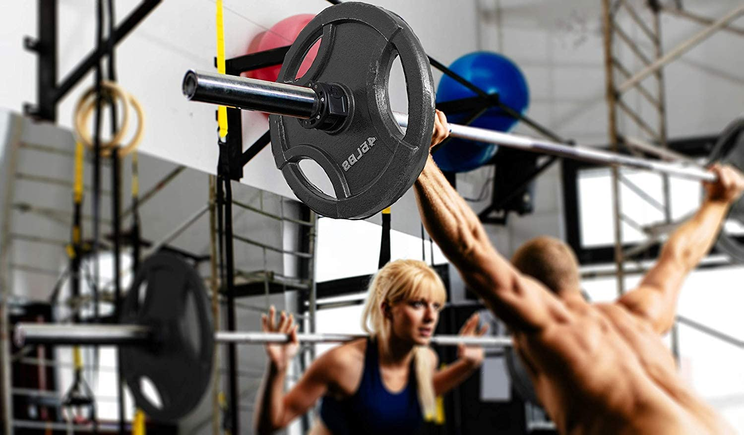 Clout Fitness Barbell Clamps : Sports & Outdoors