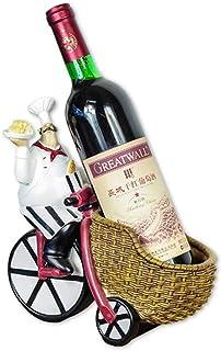 L.HPT Porte-Bouteilles de vin, Italien Chef Figurines Résine, Casier À Vin Chef Figurines Cuisine Décor Français Fat Chef ...