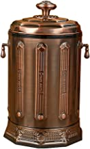 ZXJshyp Green Bronze Trash Can Stainless Steel Recycling Bin Luxury Creative Garbage Container Bathroom Home Sink 10L (Col...