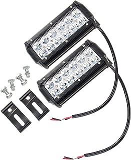2pcs CarBole 6.5'' 36W LED Light Bar 60 Degree 3600lm Spot Beam Work Light Bar for Jeep Off-road SUV Truck Car ATVs 4x4 4WD Boat