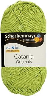 Schachenmayr Catania 9801210-00205 Przedza Bawelniana Dziewiarska, 11,5 cm Dlugosc x 5,2 cm Szerokosc x 6 cm Wysokosc, Apple