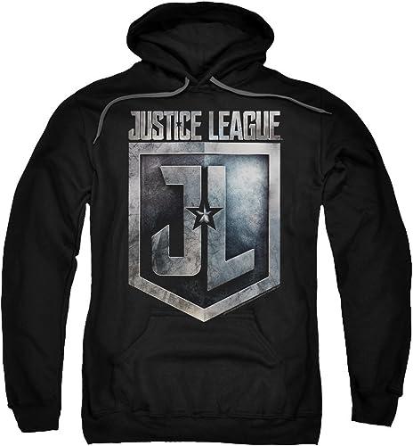 Justice League Movie - - Sweat à Capuche avec Logo du Bouclier pour Homme