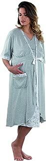Premamy Materiale Anallergico Camicia Clinica per Donna Tessuto Elasticizzato Modello Svasato Pre-Post Parto