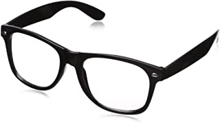 CLEAR LENS 80`s Style Vintage Style Black Frame Sunglasses