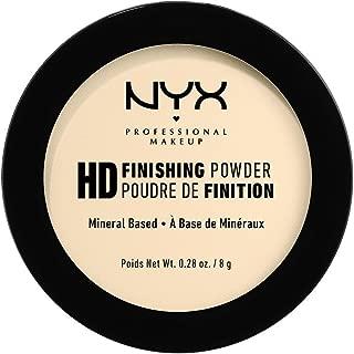 NYX Professional Makeup High Definition Finishing Powder, Pressed Powder, Skin Perfecting, Matte Finish, Oil Absorbing, Vegan Formula, Shade: Banana