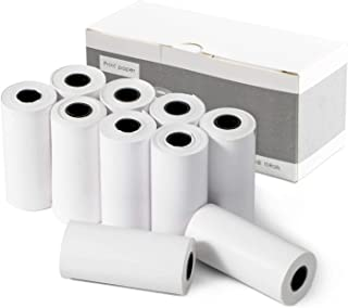 10 Rolls Print Paper Instant Print Camera Zero Ink Thermal Paper for Kids (One Size, White)