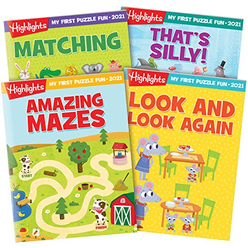 Highlights My First Puzzle Fun Collection 2021 4-Book Set