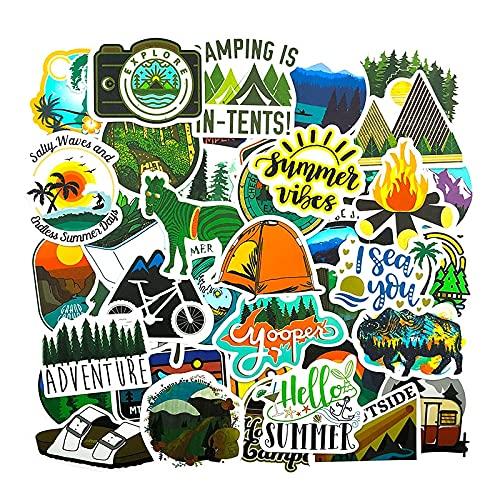 YOUYOU Paquete de pegatinas de viaje para refrigerador, motocicleta, monopatines, bicicletas, portátil, maletas móviles, explorar coches, 50 unidades