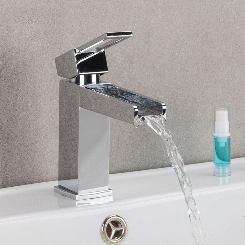 Hiwenr Waschbecken Wasserhahn Badezimmer Waschbecken Waschbecken Wasserhahn Messing Waschbecken Mischbatterien Wasserfall Wasserhahn