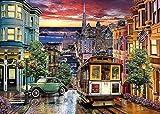 LHOME Adult Games-1000 Teile Puzzle-San Francisco Trolley-Puzzles Das Holzpuzzle/Lernspiele/Puzzle-Sets for Familien
