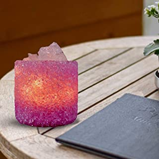 Kookee™ Natural Crystal Aromatherapy, Essential Oil with Electric Diffuser & Light, Baby Pink (087-3)