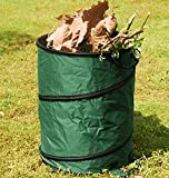 POP UP GARDEN BIN LEAVES GRASS CLIPPINGS FOLDABLE REFUSE SACK BAG 90 LITRE (S31)