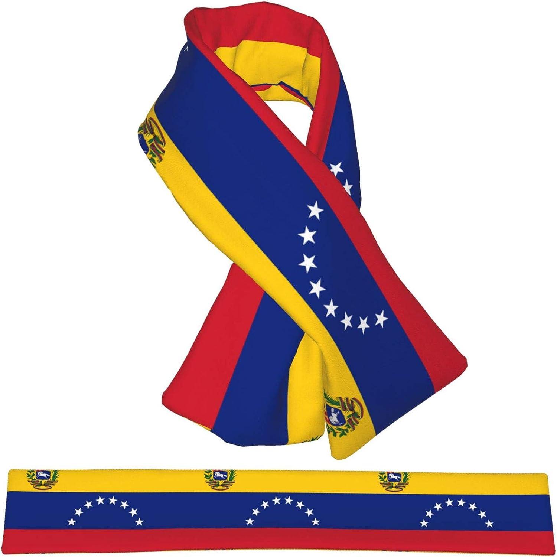 Winter Scarfs Venezuela Flag Scarves Wraps Neck Warmer Flannel Winter Cross Tie Scarves