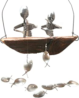 Fishbone Wind Glockenspiel Nautical Home Garden Decor Massive Eisen Konstruktion