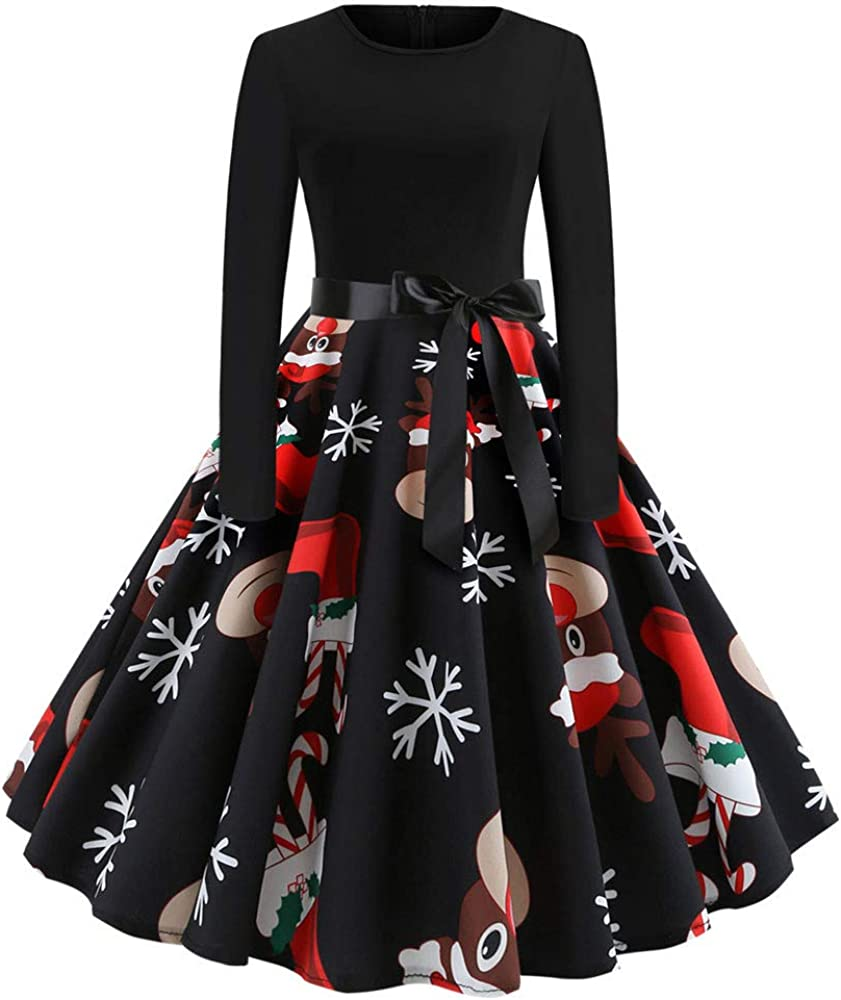 Women's Christmas Dresses,Gillberry 1950s Retro Vintage Xmas Cocktail Party Swing Dress