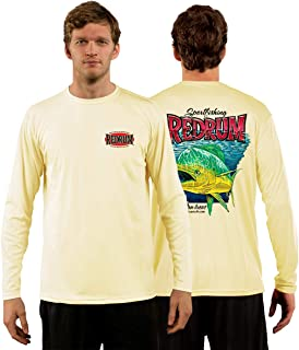 Red Tuna - Redrum Performance Quick Dry Long Sleeve Fishing Shirt for UV UPF 50+