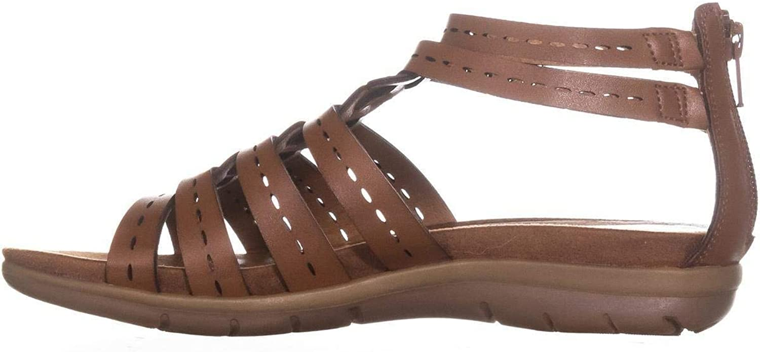 Bare Traps Womens Kaiser Open Toe Casual Strappy Sandals, Brush Brown, Size 9.0