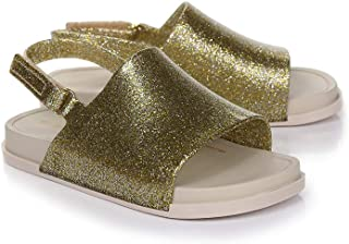Melissa Womens Cosmic 19 Melflex Slip On Slide Gold Glitter