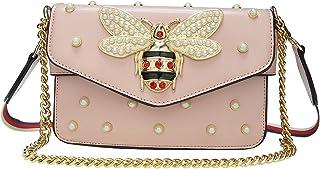 Beatfu Fashion Designer Shoulder bags for Women, Ladies Bee Cross-body Bag Top Handle Bags With Pearl