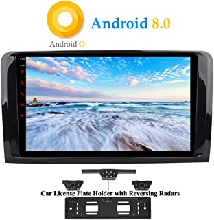 con C/ámara de Visi/ón Trasera y DVR Hi-azul Radio de Coche 9 Navegaci/ón GPS RAM 2G Auto Radio Estereo para Mercedes-Benz ML-W164// W300// ML350// ML450// ML500// GL-X164// G320 Android 7.1 Autoradio