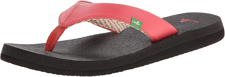 Sanuk Damen Yogamatte Flip Flops, Schwarz - rot rot rot (Watermelon) - Größe  EU 37  bb2ac5